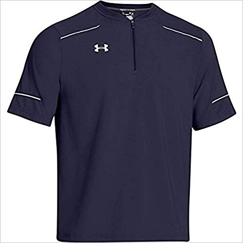 Price comparison product image Under Armour Mens Team Ultimate Short Sleeve Cage Jacket Small Navy / White