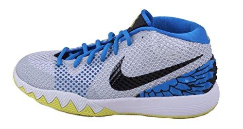 Nike Kyrie 1jóvenes blanco/negro/voltaje/plata Athletic zapatillas White/Black/Voltage Yellow/Silver/Phantom Blue