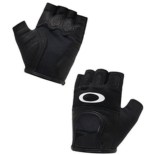 Oakley Factory Road 2.0 Short Finger Men's BMX Gloves - Jet Black/X-Large (Oakley Bicycle)