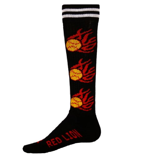 Flame Athletic Sock (Black - - Softball Socks With Flames