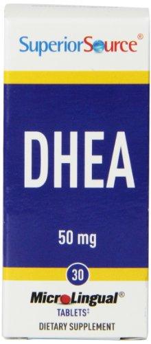 Fuente superior DHEA multivitamínico, 50mg, 30 cuenta