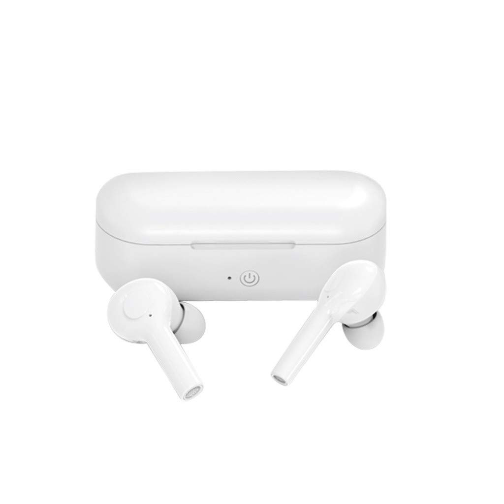 Roisay Wireless Earbuds True Mini Bluetooth 5.0 Earphones with Mic Noise Cancelling Stereo Waterproof Sports in-Ear Headphones Deep Bass Universal Auto Pair Earphones Compatible with iPhone Samsung