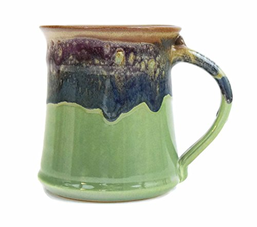 Clay In Motion Handmade Ceramic Medium Mug 16oz - Mountain Meadows