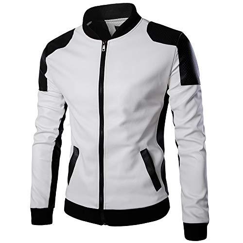 Top Corteccia Outwear Lunga Tianya Coreana Da Alla Autunno Giacca Bianco Colletto Patchwork In Pelle Inverno Casuale Uomo Manica w8vq8aR