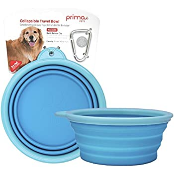 Pet Supplies : Bamboo Silicone Pop-Up Travel Bowl, Colors