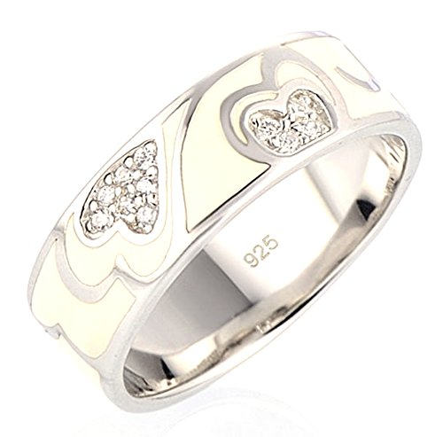 Chariot Trading - Silver Rings Engagement Wedding Ring (SIZE : 8.5) (Belly Dance Costumes Clearance)