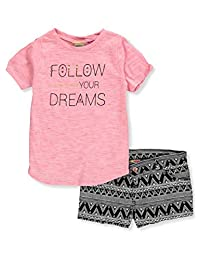Famous Brand Girls' 2-Piece Short Set Outfit