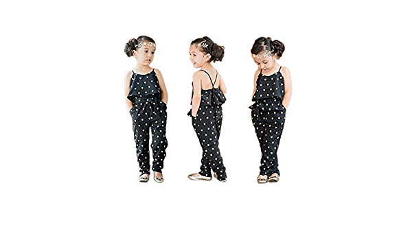 wumedy Baby Girls Cute Round Sleeveless Love Heart Print Summer Jumpsuit Pant Sets