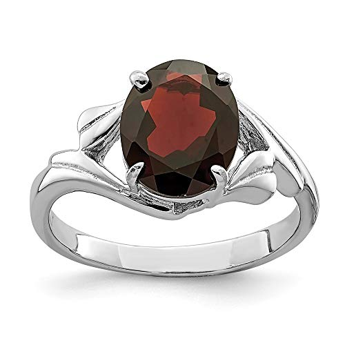 Band Silver Sterling Antiqued 3mm (925 Sterling Silver Red Garnet Band Ring Size 8.00 Stone Gemstone Fine Jewelry Gifts For Women For Her)