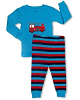 "Leveret Little Boys ""Fire Truck"" 2 Piece Pajama Set 100% Cotton (6M-8 Years)"