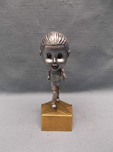 Bobble Head Youth Female Track Runner Statue Trophy Resin Award BH536 (Runner Bobble Head)
