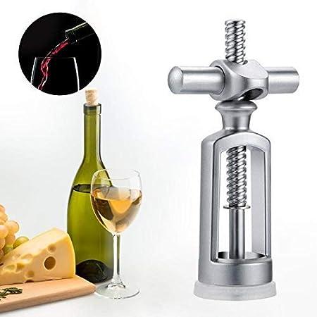 HCFSUK Sacacorchos de aleación de Zinc único abridor de Botellas de Vino Tinto Cerradura Triangular portátil Extractor de Corcho removedor de Corcho de Vino Utensilios de Cocina
