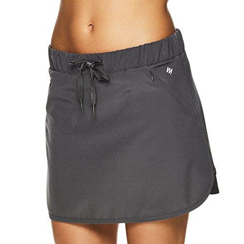Nicole Miller Active Women's Zippy Woven Athletic Skirt - Tennis Running & Exercise Activewear - Zippy Medium Grey, (Nicole Stretch Skirt)