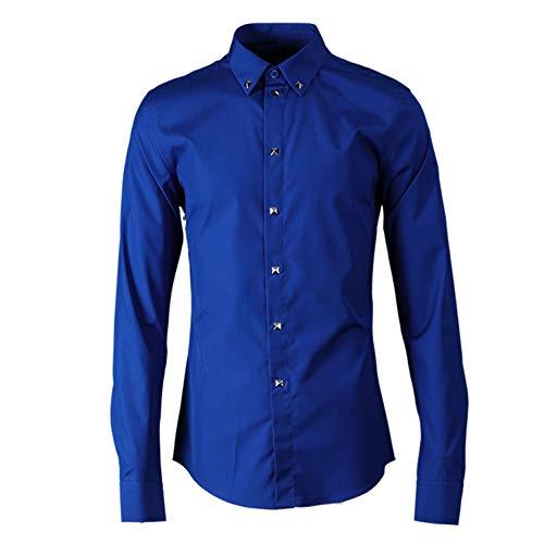 lumière bleu  Chemise habillée à Manches Longues et à Manches Longues