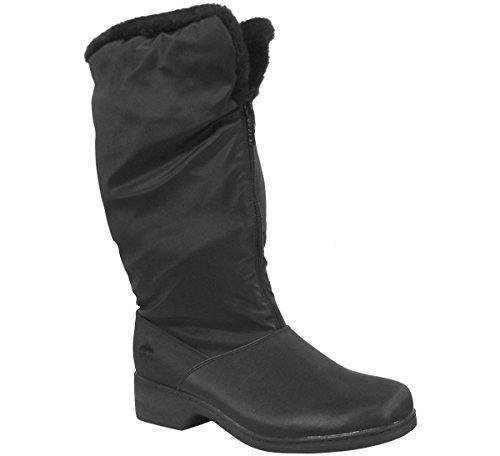 (totes Women's Cynthia Black Mid-Calf Boot - 7M)
