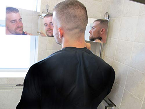 GAT Trifold Mirror - 3 way mirror used for Self Hair Cutting, Fogless Shaving in the Shower, Makeup, Hair styling and Coloring. The perfect travel mirror. G.A.T. -''Go Anywhere Tri fold'' by Viribus. by Viribus (Image #2)
