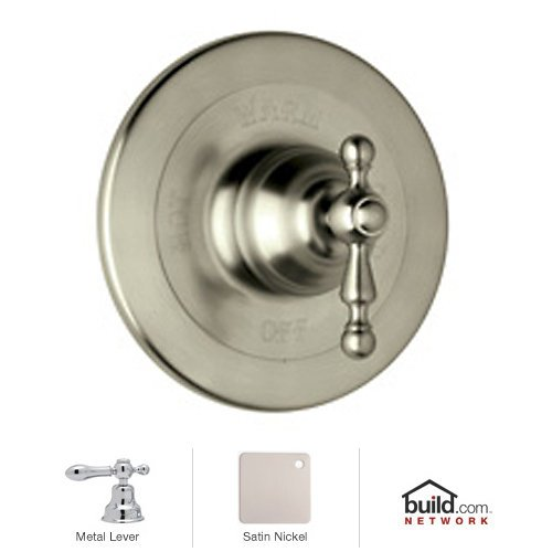 Rohl AC100LM-STN Cisal Shower Valve Trim with Classic Metal Lever Handle, Satin Nickel - Brass Cisal Cisal Shower