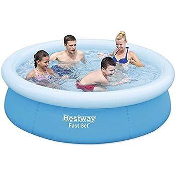 Amazon.com: Bestway Fast Set piscina inflable sobre el suelo ...