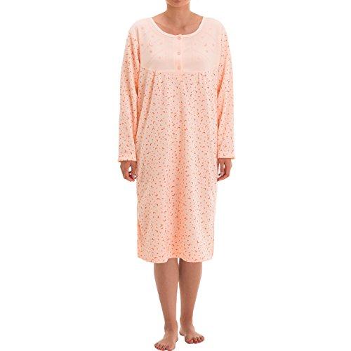 Lucky térmica camisa de noche para mujer con Print albaricoque