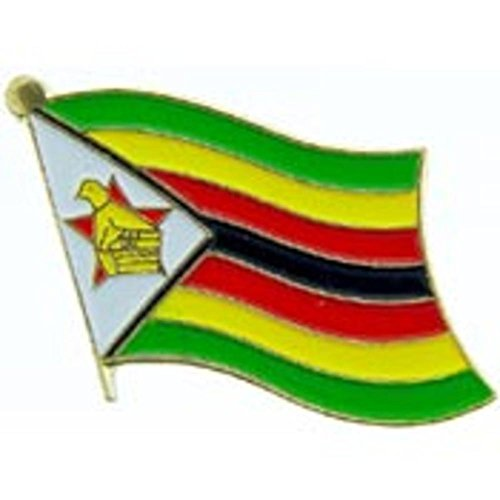 Winter Olympic Pin - Zimbabwe Flag Pin 1