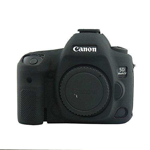 - CEARI Flexible Silicone Case Camera Body Protective Cover Skin for Canon EOS 5D4 5D Mark IV Digital Camera + Microfiber Cloth - Black