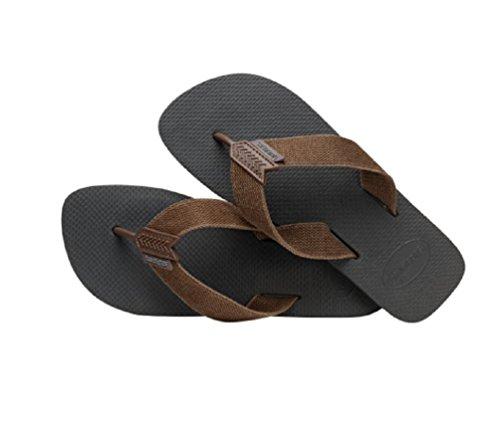 Havaianas Men's Urban Basic Sandal Flip Flop, Grey/Dark Brown, 39 BR/8 M - Havaianas Brown