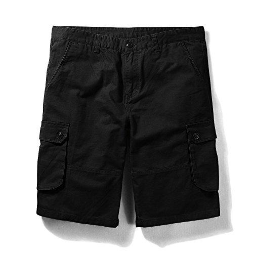 - OCHENTA Men's Classic Loose Fit Twill Cargo Shorts Black 30