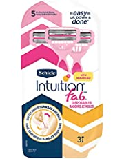 Schick Intuition f.a.b Womens Bi-Directional Disposables Razor, Pack of 3