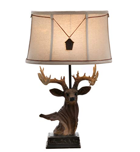 Catalina Lighting 22246-000 Lodge Elk Table Lamp, 23.25
