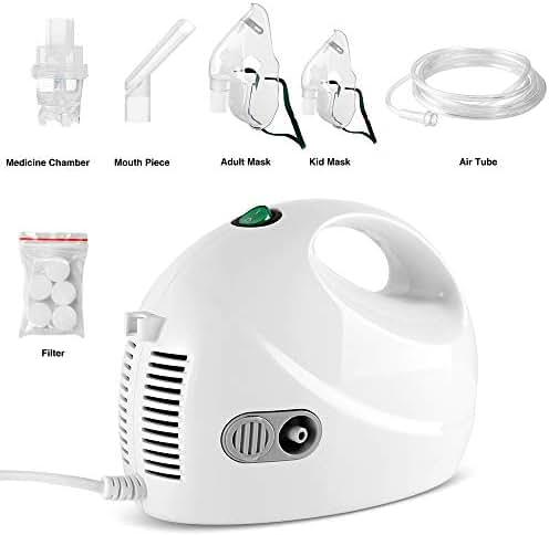 TT-Star Portable Compressor System Personal Cool Mist Inhaler Machine with Tubing 2 Mask kit for Home Use, 120V/60Hz