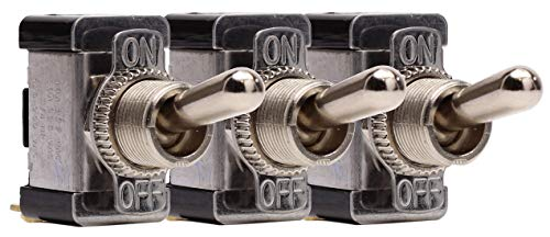 Fastronix SPST 20 Amp AC/DC Heavy Duty Toggle Switch 3 Pack (Mount Panel Switch Toggle)