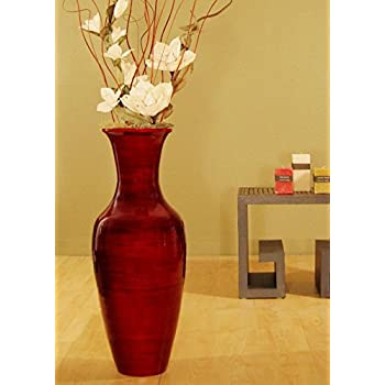 Amazon Green Floral Crafts 27 Inassic Red Bamboo Floor Vase