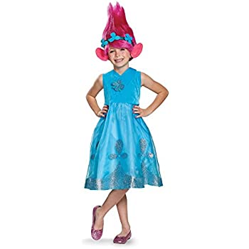 Poppy Deluxe W/Wig Trolls Costume Blue Large (10-12)  sc 1 st  Amazon.com : trolls costume  - Germanpascual.Com