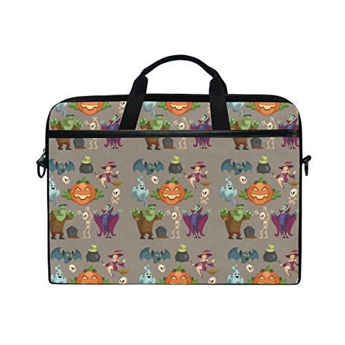 15-15.4-inch Laptop Portable Protection Bags Halloween Characters October Holiday Vector Image Suitable for Apple Computer -