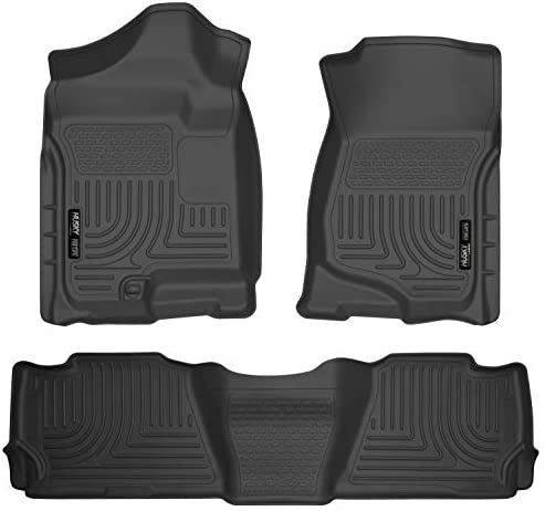 Husky Liners 98251 Fits 2007-14 Cadillac Escalade, 2007-14 Chevrolet Tahoe, GMC Yukon Weatherbeater Front & 2nd Seat Floor Mats , Black