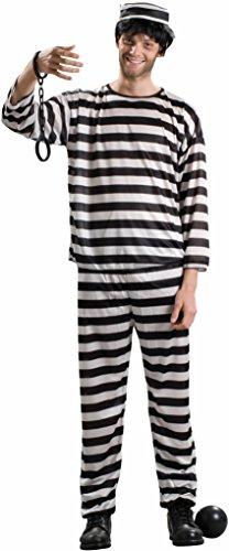 Forum Novelties Men's Prisoner Costume, Black/White, Standard