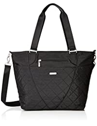 Baggallini Avenue Tote Bag with Lightweight Quilted Nylon Organizational Pockets, Black Quilt, One Size (Model:QAV189-Black Quilt)