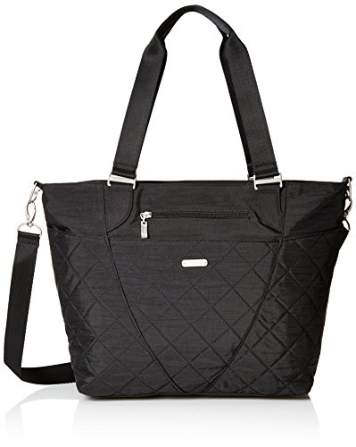 Baggallini Quilted Avenue Tote with Rfid, Black Quilt