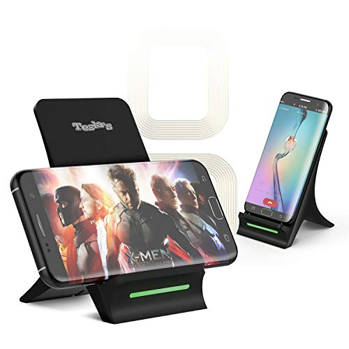 Tesla's Wireless Charger for iPhone X iPhone 8 iPhone 8 Plus, Fast QI Wireless Charging Pad Stand for Samsung...