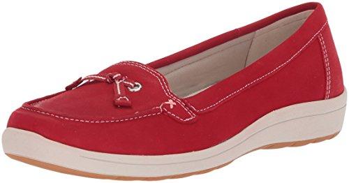 Easy Spirit Women's Loraty Boat Shoe, Red