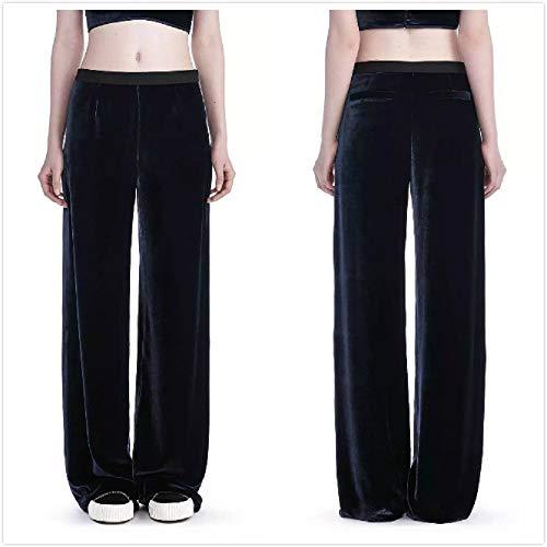 Invernali Grigio FuweiEncore Eleganti Nero Pantaloni Donna Velluto unica Taglia Dimensione Colore Larghi Hwg5q0