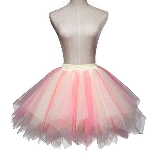 50 Classique Vintage Tutu Bubble Petticoat Mix Party Tulle ONECHANCE 10 Couches Ballet Jupe Jupe Annes 4XaUUw