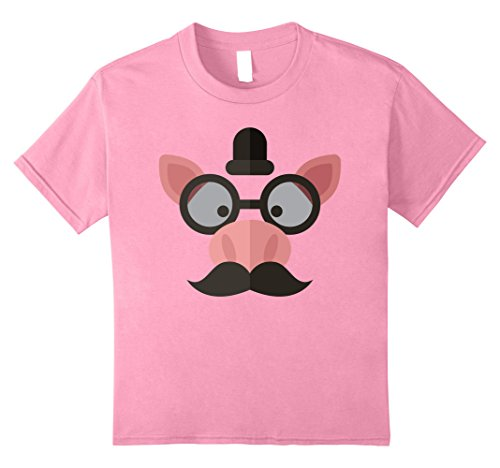 Nerdy Girl Halloween Costume Ideas (Kids Emoji Pink Pig Face T-Shirt Halloween Costume 10 Pink)
