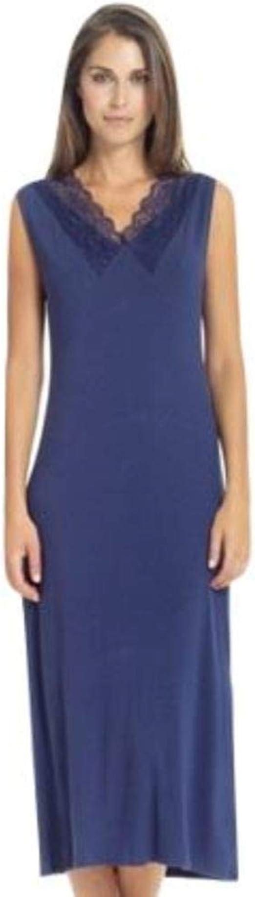 Boglietti - Camisa de Noche para Mujer Azul de Viscosa ...