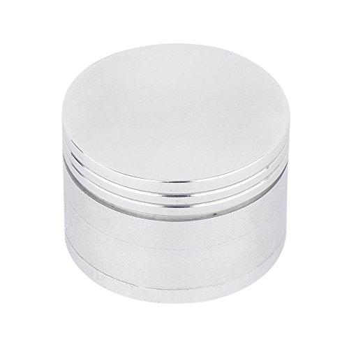 Metier 42mm Sliver Color Metal Herb Storage Grinder/Crusher with Honey Dust Filter -4 Parts (42mm) Price & Reviews