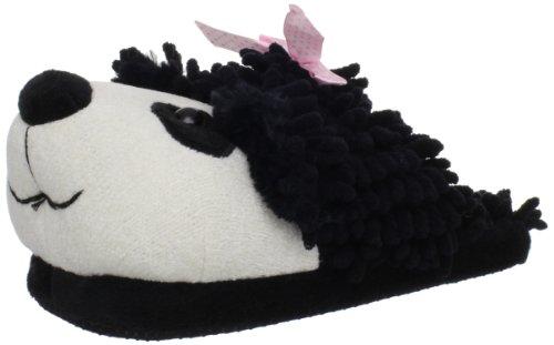 Aroma Home Fuzzy Friends Women's Panda Slipper Black/White