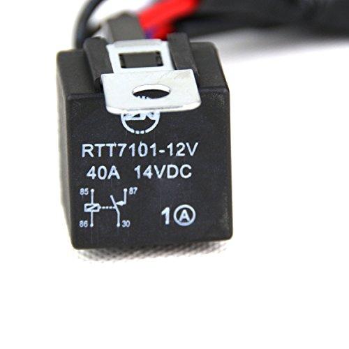 senlips 10ft 12v 40a wiring harness kit for led light bar