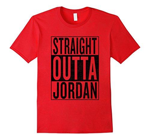 Mens Tee Classic Graphic Jordan (Mens Straight Outta Jordan Great Travel & Gift Idea T-Shirt Large Red)