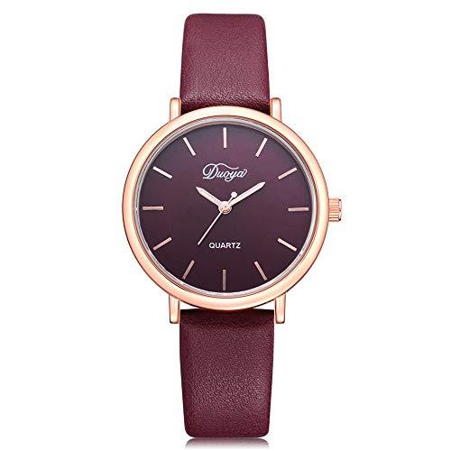 Linmkey Fashion Women Men Couple Watch Rounded Colorful Analog Pointer Quartz Watch Fashion Watches for Men