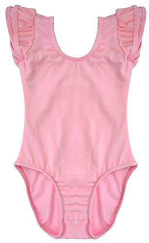 Dancina Toddler Leotard Flutter Sleeve Ballet Outfit Princess Dance Unitard Costume 2T Light Pink -